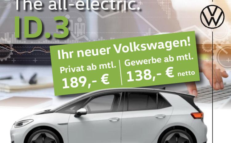 Der VW ID.3 im günstigen Privat- oder Gewerbeleasing