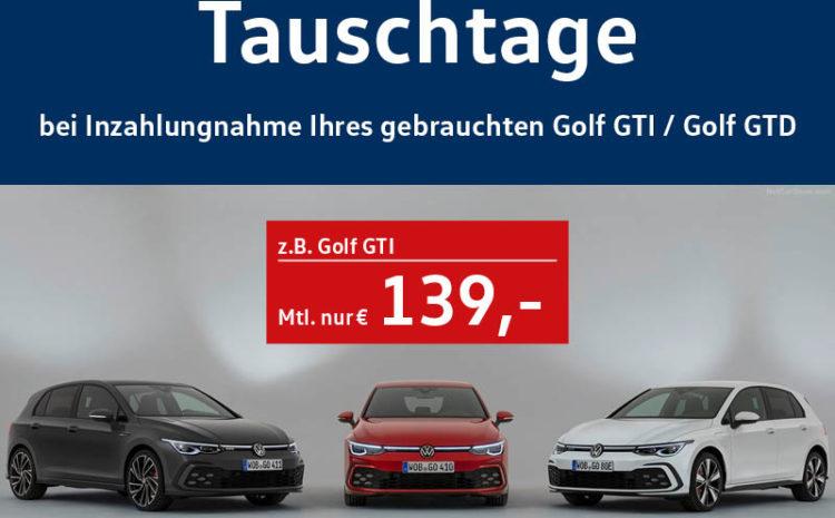 Golf GTI & GTD Tauschtage